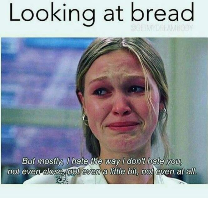 me looking at bread after reading about gluten