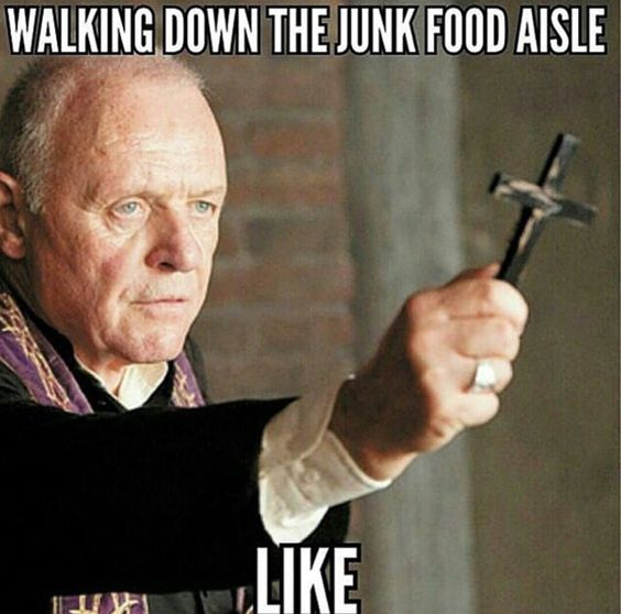 hot it feels walking down the junk food aisle diet memes