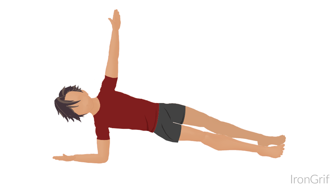 side plank exercise ab training