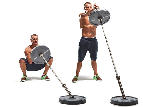 Show img landmine thrusters full body compound exercise