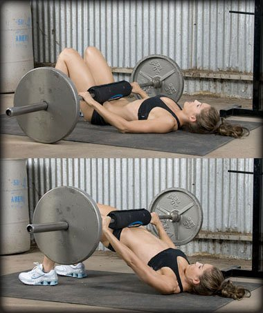 Show img barbell glute bridges