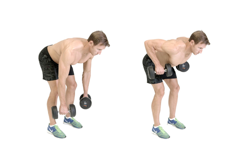 Show img dumbbell bent over row
