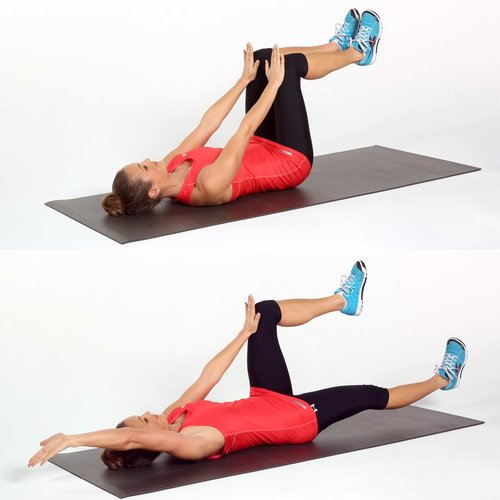 Show img dead bug core abs exercise pilates