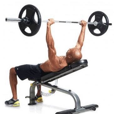 Show img 104 incline bench press upper body chest