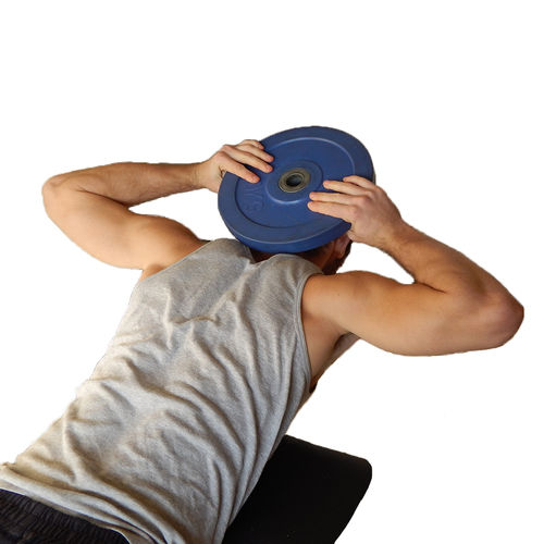 Show img lying face down plate neck exercise index